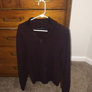 GREAT sweater! Deep maroon Perry Ellis sweater